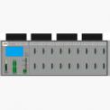 Mehrere Racks können zu einem grossen System (bis zu mehreren 100 Lampen) zusammengeschaltet werden.